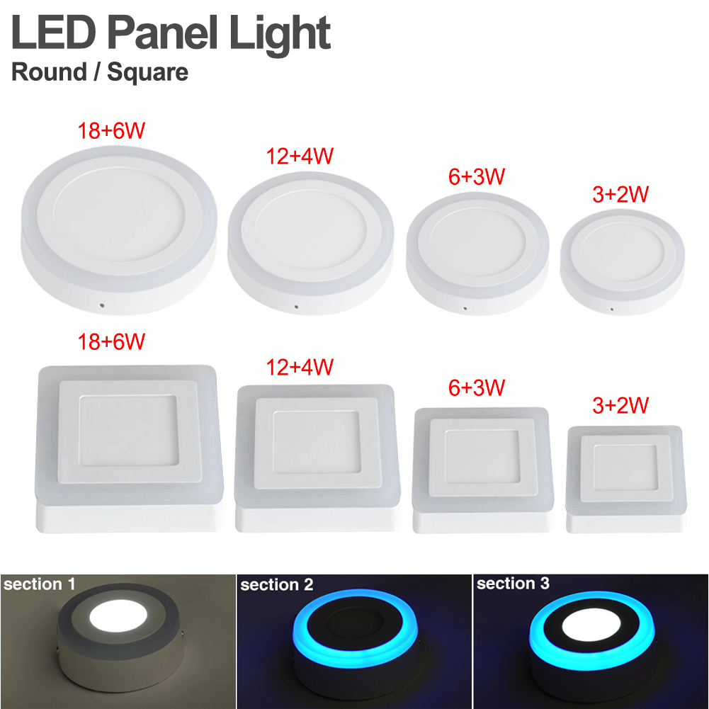 Clocks Alarm Clocks & Clock Radios Objective Recessed Color Changing Rgb Panel Lamp 5w Led Ceiling Down Light With Remote Con