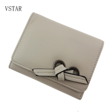 hot deal buy new fashion women pu leather wallet vintagetri-folds luxury cash purse girl small clutch coin purses holders lovely girl's clips