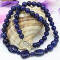 Природный камень лазурит джаспер 8 мм круглые бусины кулон ожерелье цепь для женщин высокого класса подарки choker jewelry 18 дюймов B3203