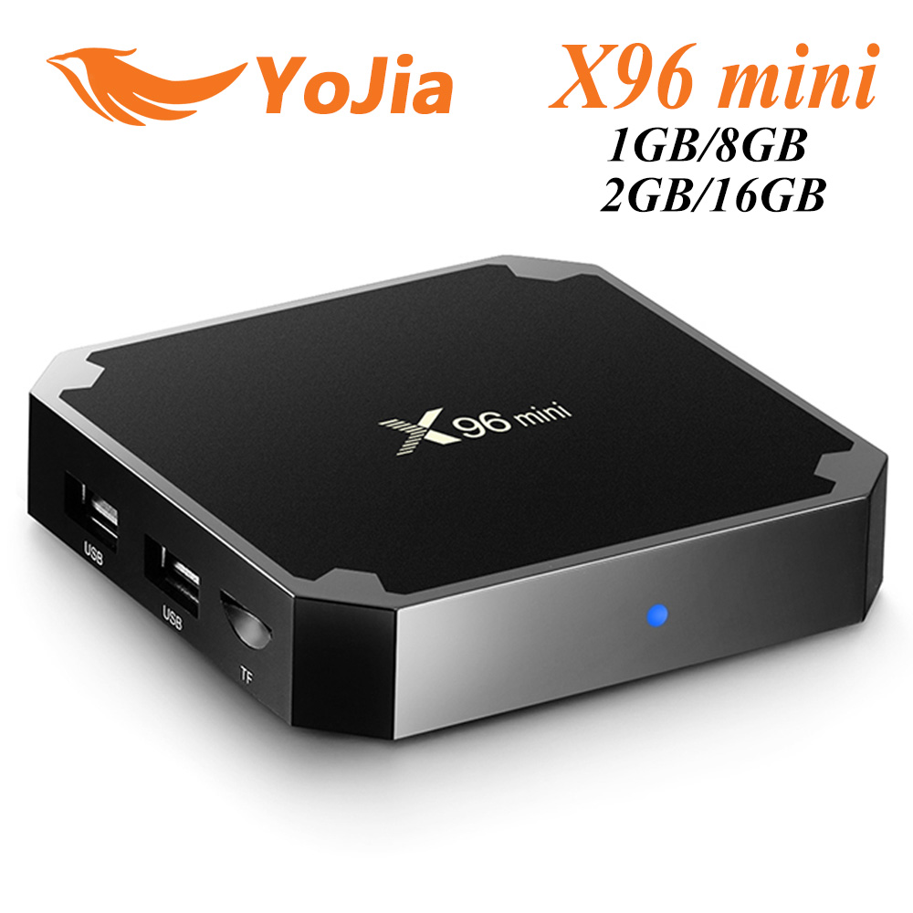 10pcs 2GB16GB X96mini Android 7.1 TV BOX 1GB8GB X96 mini Amlogic S905W Quad Core smart Media Player H.265 4K 30tps 2.4GHz WiFi mi розового золота 2gb16gb