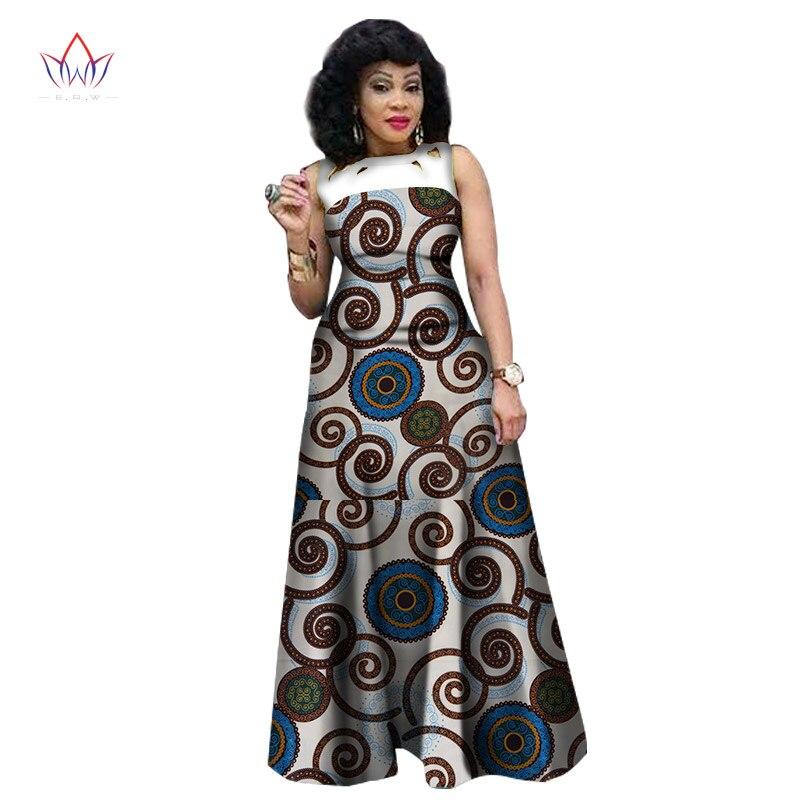 f7f3f8fbca3e Novo Estilo Verão Vestidos para As Mulheres 2017 de Impressão Africano  Africano Roupas Sem Mangas Sexy Vestido Maxi Plus Size BRW WY1341 em  Vestidos de ...