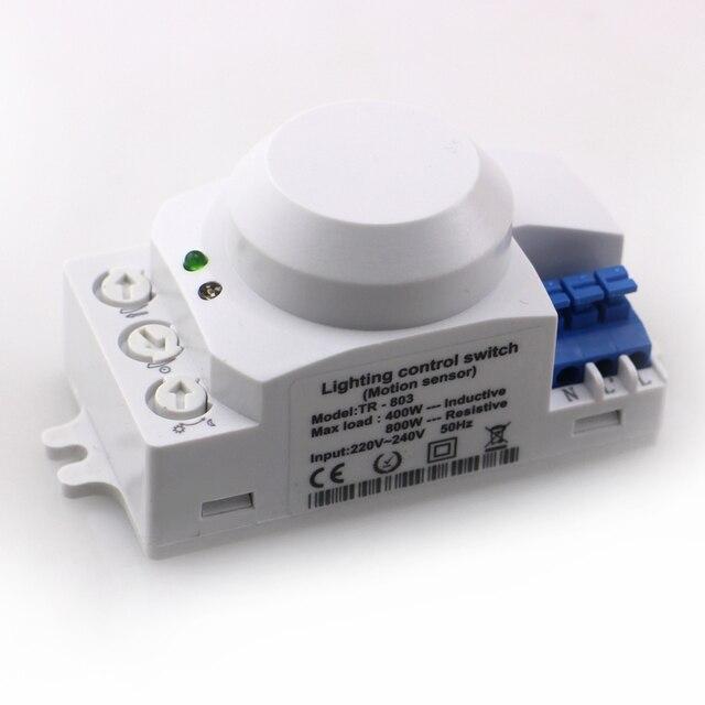 Ac220v 240v Microwave Radar Sensor Light Switch Auto Induction Motion Detector Indoor Ceilling