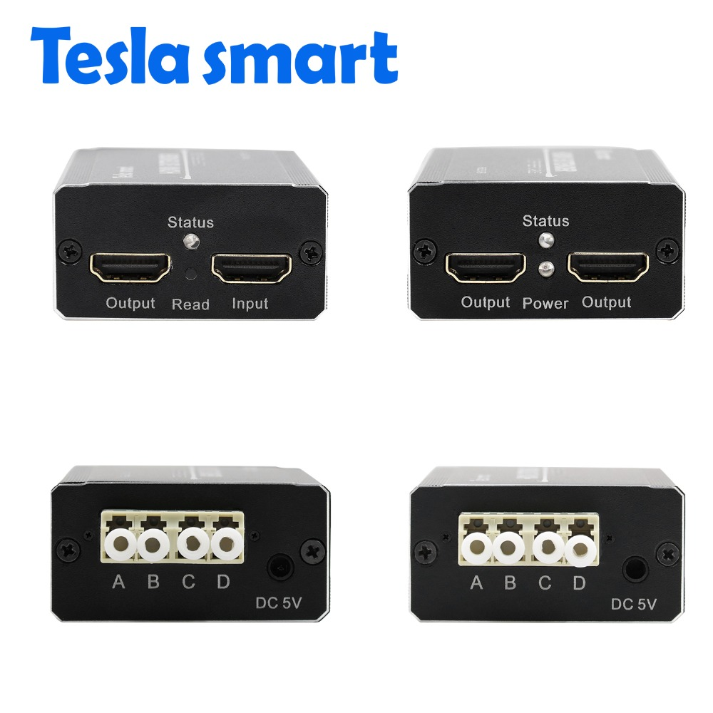 Tesla smart Multi-mode Long Distance 1000m HDMI Fiber optic Extender (1  Extender TX+1 Extender RX)
