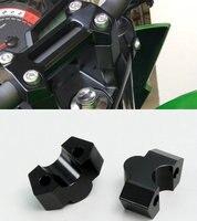 Bike GP Motorcycle Accessories Fits Kawasaki Modified Z250 Z800 Handlebar Plus High Code Adapter Handle Aluminum