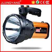 JUJINGYANG 6665 searchlight long range LED marine high power 65W rechargeable portable light camping spotlight