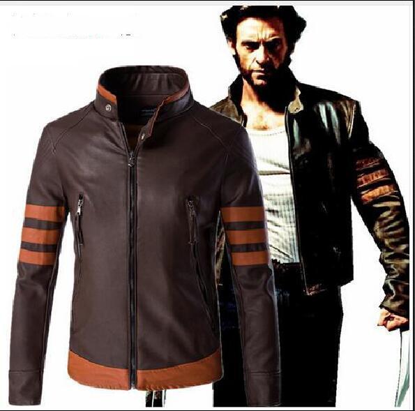 Wolverines Jame Costume Pu Leather Wolverines Jacket Black Slim Fit Biker Motorcycle Jackets Coat Tactical Jacket Plus M- 5XL