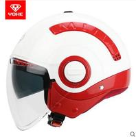 New YOHE MINI Double Lens Half Face Motorcycle Helmet Motorbike Electric Bicycle Helmets ABS With