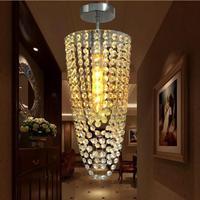 Led luz de teto chrome k9 luzes de teto cristal moderna Ac110v-256v cor transparente led luzes para casa lâmpada lustre