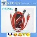 O ENVIO GRATUITO de 10 conjunto de PIC, Kit PIC 3 PICKit3 programador, PIC Kit3, PIC Kit3 Simulator + USB cabel + Cabo 6Pin