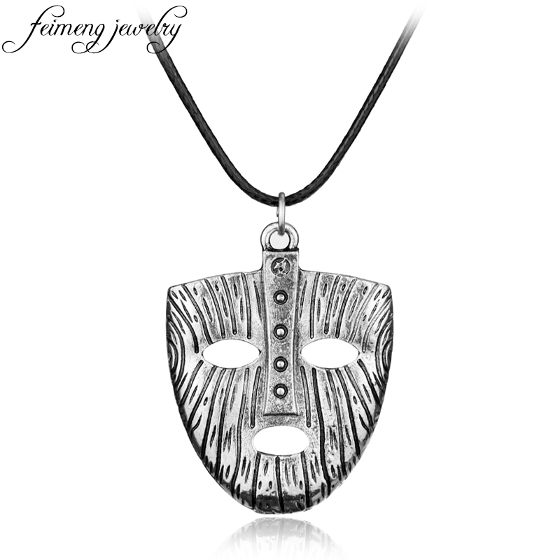 Pendant Necklaces Feimeng Jewelry Punk Style Loki Mask Necklace Norse Viking Odin Thor Pendant Necklace For Men Cool Accessories