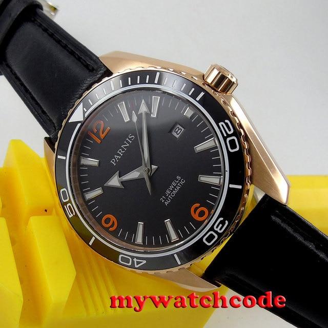 5374e1213 45mm Parnis black dial Sapphire Glass miyota 821A Automatic mens Watch P306