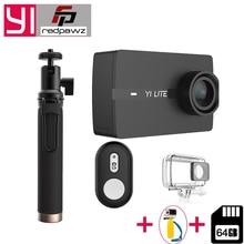 100% первоначально для Xiaomi YI Lite действие Камера Настоящее 4 К спортивные Камера Bluetooth 16MP EIS WI-FI 2 «Touch ЖК-дисплей Экран Объектив 150 градусов