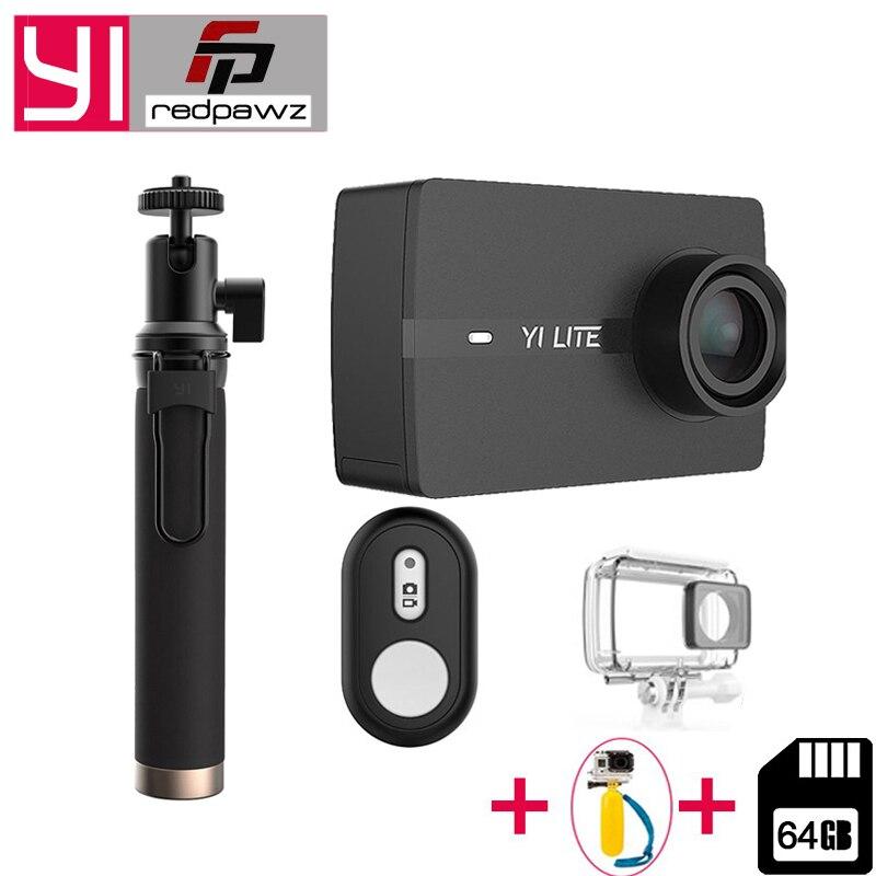 100% Original Pour Xiaomi YI Lite caméra d'action Réel 4 K Sport Caméra Bluetooth 16MP EIS WIFI 2 écran lcd tactile 150 degré Lentille