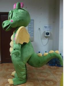 Image 3 - Костюм талисмана зеленого динозавра, карнавальный костюм Зеленого дракона для взрослых, вечерние костюмы на Хэллоуин
