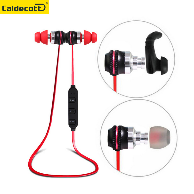 Caldecott metal magnet Bluetooth Earphone Wireless Sport Running Headset fitness earphone With Mic for Android IOS MP3 player
