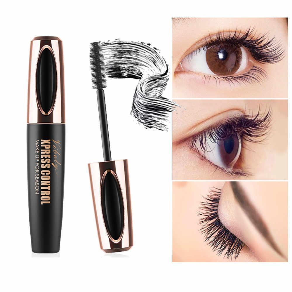 7aac9ddf3d1 ... 2019 Makeup Eyelash Mascara Eye Lashes Makeup 4D Silk Fiber Lash Mascara  New Long Curling Black ...