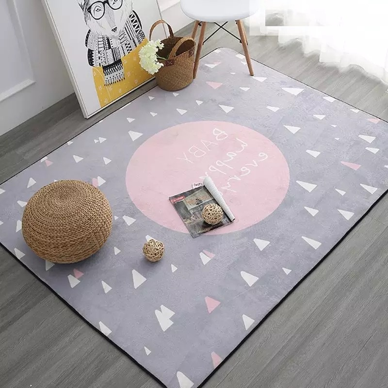 Dreaming Carpet for Sale 100x150cm Thicken Soft Kids Room Play Mat Modern Bedroom Area <font><b>Rugs</b></font> Large Pink Carpets for Living Room