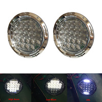 75W 5D Led Working Light DRL High Low Beam 7inch Motorcycle Projector Headlamp For Harley Jeep