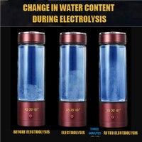 USB Hygrogen rich Water Bottle Fast Electrolysis Hydrogen Generator Ionizer Cup Alkaline Water Maker 350ml Super Antioxidants