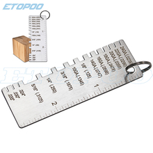 Buy wire gauge and get free shipping on aliexpress etopoo stainless steel portable welder ruler wire metal sheet thickness gauge welding greentooth Choice Image