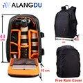 ALANGDU сумка для Фотокамеры DSLR Рюкзак Ноутбук Видео Фото Сумки для Камеры d3200 d3100 d5200 Небольшие Компактные Камеры Рюкзак Большой Размер