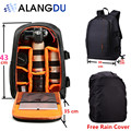ALANGDU Camera Bag DSLR Backpack Notebook Video Photo Bags for Camera d3200 d3100 d5200 Small Compact Camera Backpack Large Size
