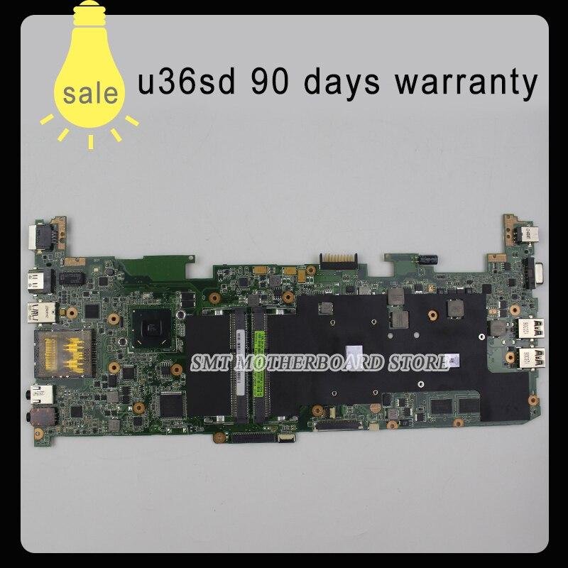 for ASUS U36S U36SG motherboard U36SD REV2.0 Mainboard Processor I3 GT610 1G DDR3 100% test for asus u36jc motherboard with i3 380m 390m processor gt310m with 1gb ddr3 vram 100