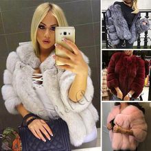 Women Full Pelt Silver Warm Real Fox Fur Coat Short Winter Silver Fox Fur Jacket Outerwear Natural Whole Fox Fur Coats for Women(China)