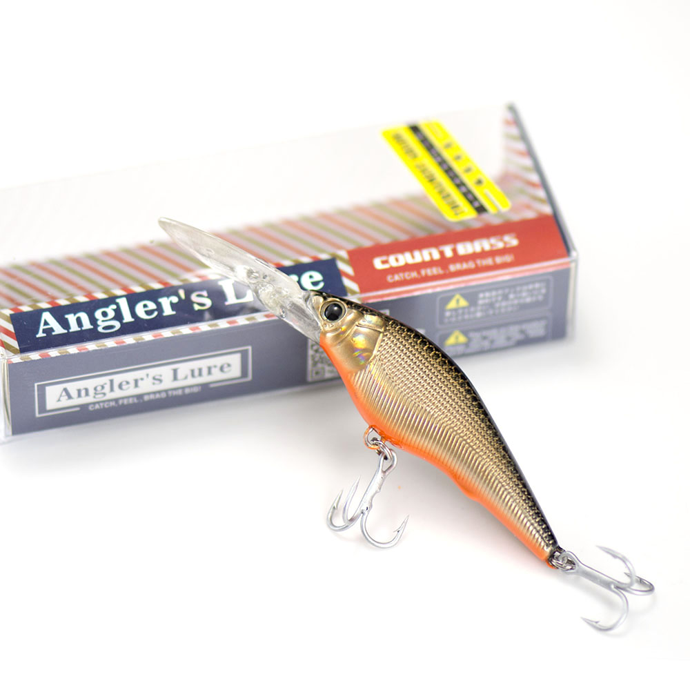 Countbass Shad Crank 60mm 7g Hardbait Freshwater Angler's Floating Wobbler Fishing Lures