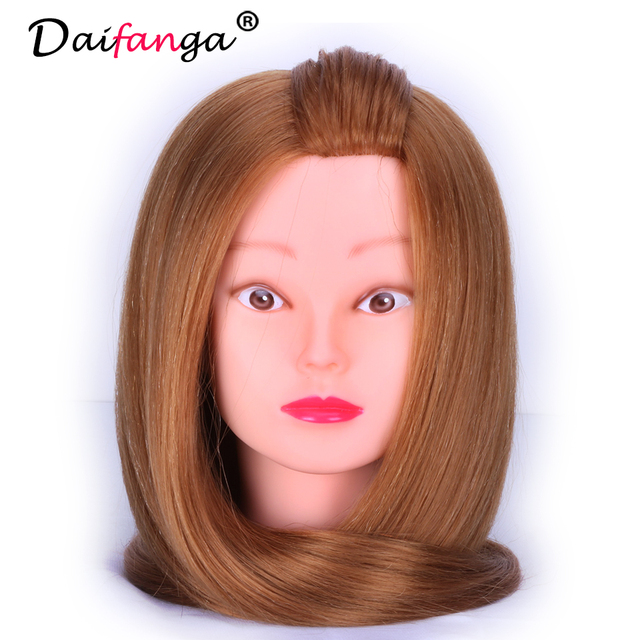 Professional Hair Styling Mannequins Head Women Manikin With Real Hairdressing Dolls Mannequin