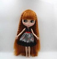 Blygirl Blyth doll Pszenicy kolor proste włosy grzywka nagie lalki 30 cm wspólny organ więcej wspólny organ 19 wspólne DIY doll może zmienić
