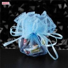 100 шт 26 см Тюль шнурок мешок Круглый Свадебный мешочек из органзы День рождения Рождество конфеты подарочная сумка для демонстрации 5zsh837