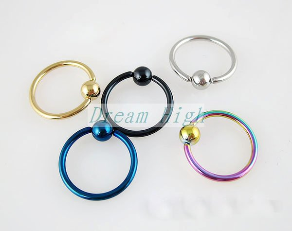 Wholesale Ear Piercing Nose Ring Labret Ring BCR Rings Promotional For Women Free Shipping 16GAUGE