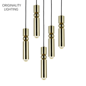 FULCRUM LIGHT 5 PIECE CHANDELIER CHROME small lamp simple iron bar restaurant cafe table villa office minimalist pandent lights