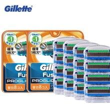 Оригинальные лезвия для бритвы Gillette с 16 лезвиями Fusion Proglide, бритвенные лезвия для мужчин