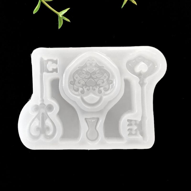 Epoxy Resin Mold Key Lock Shape Silicone Mold Fondant Baking Jewelry Chocolate Cake Decor Mold
