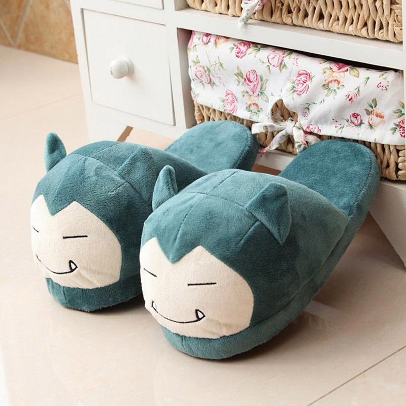 Women Anime Cartoon Pokemon Slippers Lovers Warm Woman Slippers Elf Ball Pikachu Go Plush Shoes Home House Slippers Children 1