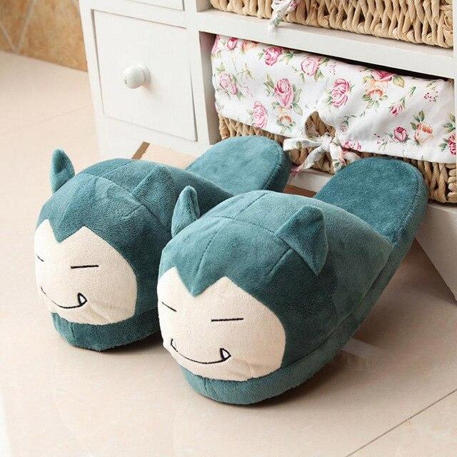 Women Anime Cartoon Pokemon Slippers Lovers Warm Woman Slippers Elf Ball Pikachu Go Plush Shoes Home House Slippers Children 1