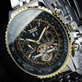 Mens Relojes de Primeras Marcas de Lujo JARAGAR Hombres Deporte Militar Reloj de Pulsera Mecánico Automático Tourbillon Reloj relogio masculino