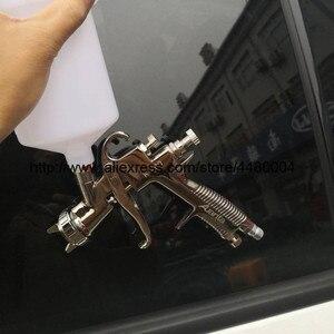 Image 5 - K 400 wysokiej jakości sprej pistolet 1.4mm 1.7mm LVMP pistolet na sprężone powietrze grawitacji ze stali nierdzewnej kubek 600ml auto samochód farba do twarzy