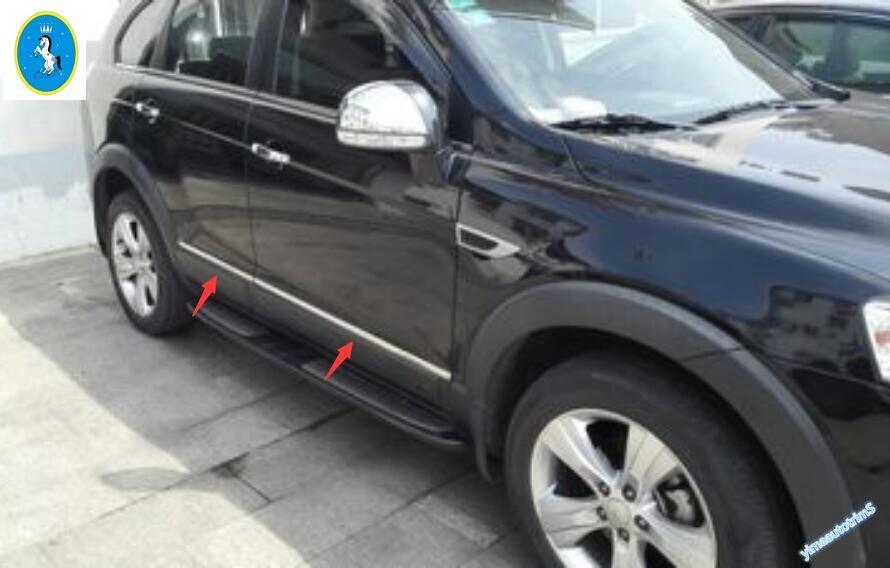 For Chevrolet Holden Captiva 2012 2013 2014 2015 Door Body Molding Decoration Strip Cover Trim 4 Pcs / Set