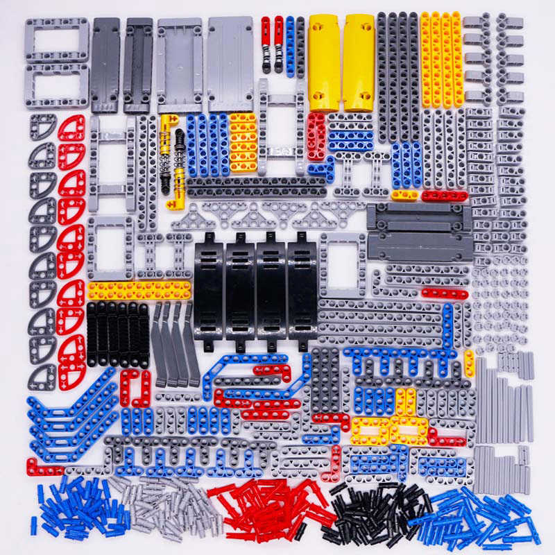Technic Parts Bricks Pin Liftarm Studless Beam Axle Connector Panel Car Toy Mindstorm compatible LegoINGlys Building Blocks Bulk