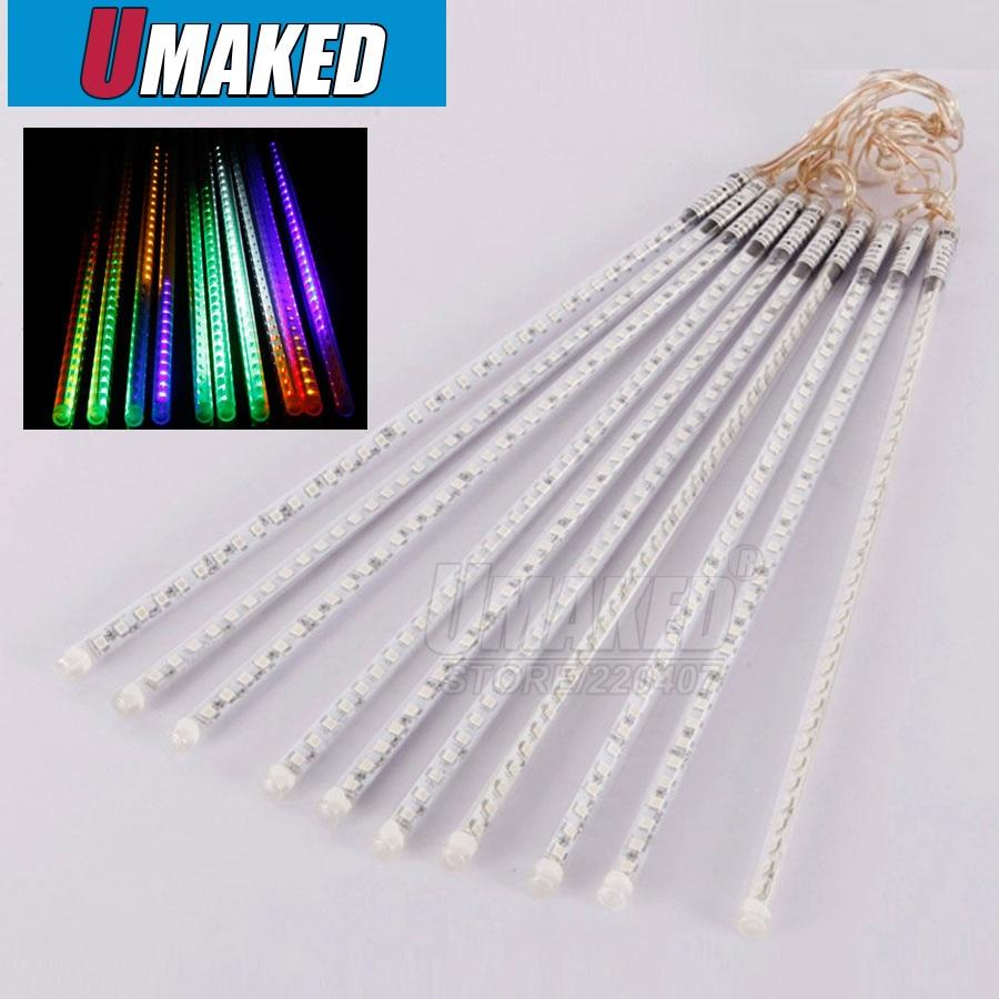 10 tubes/set 50 cm SMD3528 60 LED s/LED tube chute de neige, LED lumière de noël, tube de pluie étanche, tube de météore LED