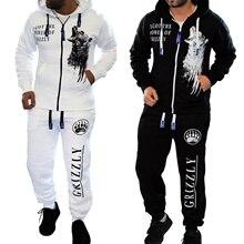 ZOGAA 2019 New Mens Autumn Hoodies Tracksuit Set Male Zipper Men 2Pc Sportwear Sweatshirt +Pant Suit