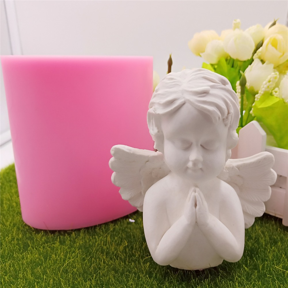 Praying Angel Design Silicone Candle Molds Mould 3D Silicone Mold For Candle Making