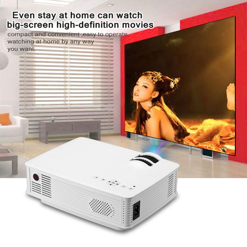 GP9 EHD09 Mini LED Projector 800x480pixels Support 1080P 2000 Lumens Home Cinema HDMI/USB/SD/AV/3.5mm GP9 Proyector