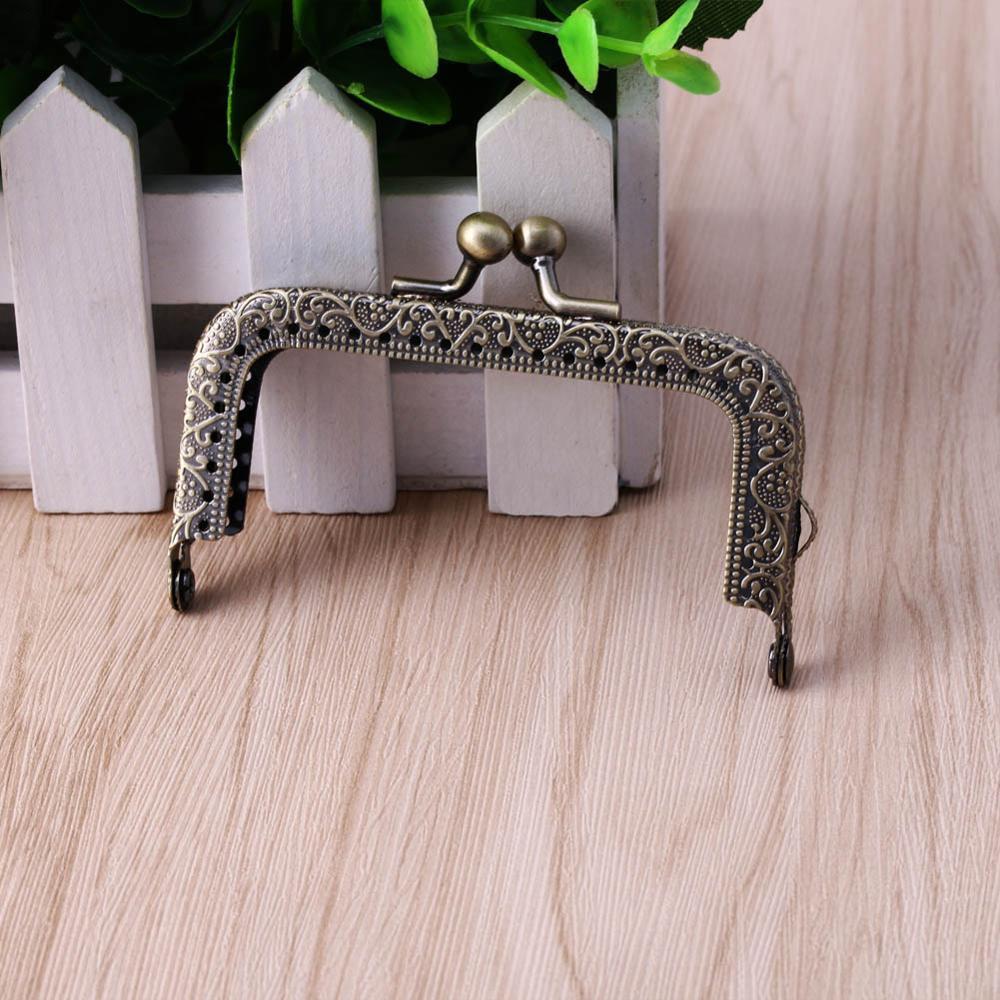 Швейная Сумочка, сумочка, монеты, сумки, металлическая застежка, рамка 8,2 см x 4,5 см - Цвет: Bronze
