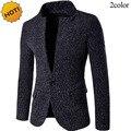 Мода 2017 Весна Осень One button Пальто Однобортный Снег Шерстяная ткань Южная Корея Пиджак Блейзеры Мужчины masculino
