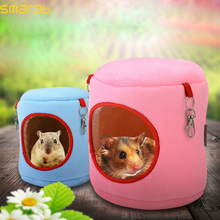 Warm Bed Rat Hammock Squirrel Winter Toys Pet Hamster Chinchillas Cage House Hanging Cotton Nest Toy for Small Pet Supplies