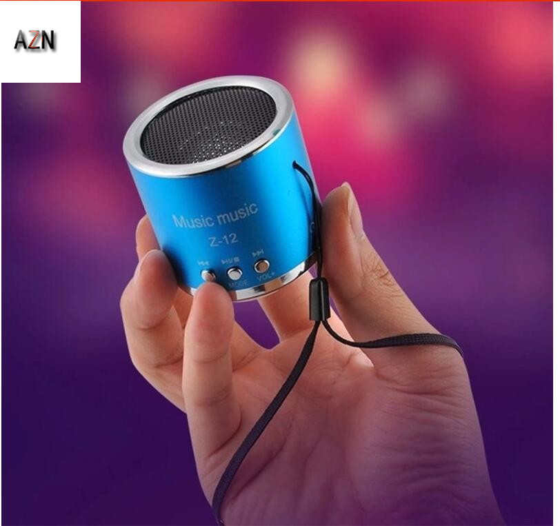 AZN New FM Radio Z12 Portable Mini Speaker USB Micro SD TF Card Mp3 Mini Speaker Computer Subwoofer Music Box Portable Speaker in Portable Speakers from Consumer Electronics